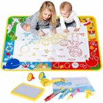 Anpro Water Drawing Mat 70*100cm - Water Doodle Mat with 3 Pens,3 Stamps