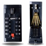 Defender Wall Mounted Key Safe - Push Button Combination Key Safe Outdoor Key Box - Wall Mount Key Lock Box - Push Button Wall Mounted Key Safe - Key Cabinet