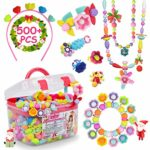 Pop Beads - 500+Pcs DIY Jewelry Making Kit for Toddlers 3