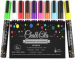 Fine Tip Chalk Pens - Pack of 10 colour markers - Use on Chalkboard