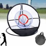 WANSHI Golf Hitting Net Indoor Golf Practice Cage Driving Hitting Net Portable Training Aid With Carrying Bag Indoor Outdoor Garden