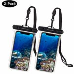 UNBREAKcable Universal Waterproof Case 2 Pack - IPX8 Waterproof Phone Pouch Dry Bag for iPhone Xs Max XR XS X 8 7 6s 6 Plus