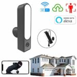 Smart Outdoor Security Camera 1080P Wi-Fi Night Vision Movement Detection Alert 12W Adjustable LED Floodlights control Video Wireless IP66 Waterproof Camera with Two-Way Talk
