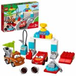 LEGO 10924 DUPLO Cars Lightning McQueen's Race Day Disney Pixar Cars Toy for Toddlers 2 Years Old