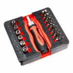 AmazonBasics 23-Piece Magnetic Ratchet Wrench and Screwdriver Set