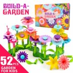 CITOY DIY Flowers Garden Building Toys 52 PCS for 3-8 Year Olds Toddlers Kids - Best Toys Gift