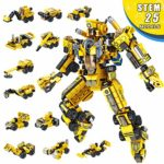 LUKAT Robot Building Toys STEM Learning Toy 25-in-1 Creative Construction Toy Building Kit Educational Engineering Building Block Set for Age 5 6 7 8 9 10 Year Old Boys & Girls Best Toy Gift for Kids