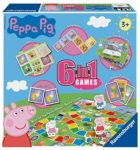 Ravensburger 21375 Peppa Pig-6 in 1 Set for Kids & Families Age 3 Years and Up-Includes 6 Classic Games: Bingo