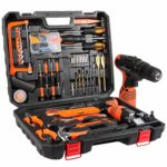 LETTON Tool Kit with Drill 16.8V Cordless for 60 Accessories Home Cordless Repair Kit Tool Set