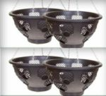 "Set of 4 x 15"" Easy fill Hanging Baskets"