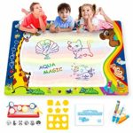 Aqua Water Doodle Mat Large 100*80 cm with 3 Magic Pens for Kids Mess Free Water Drawing Painting Mat -Toddler Toys 2 3 4 5 6 Year Old