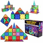 Desire Deluxe Magnetic Tiles Building Blocks Construction Toys for Boys & Girls 47pc – STEM Learning Educational Toy for Kids Age 3 4 5 6 7 8 Year Old Gift
