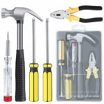 E·Durable Household Hand Tool Kit 5 Pieces Homeowner Tool Set General Repair Toolkits for DIY Home Garage and Workshop with Toolbox: Amazon.co.uk: DIY & Tools