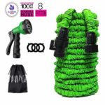 Garden Hose 100 FT Garden Hose with Triple Layer Latex Core 3/4 ABS Aluminum Alloy Fittings 8 Function Spray Nozzle On/Off Valve Extra Strength Fabric Expandable Garden Hose for All Your Watering: Amazon.co.uk: Garden & Outdoors