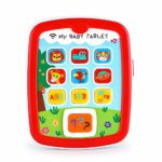 VATOS Educational Baby Tablet Music Toy Pad Baby Learning Toys for Infant 6 Months with Music & Light Travel Toys Easy ABC Toy Numbers & Color Toys: Amazon.co.uk: Toys & Games