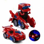 Dinosaur Transformers Car Electric Dinosaur Toys Automatic Transforming Dinosaur Car with Flashing Lights and Sound for 3-7 Years Old Boys Girls Educational Toy Birthday Xmas Gifts for Kids: Amazon.co.uk: Sports & Outdoors