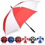 Eono by Amazon - Golf Umbrella 58/62/68 Inch Large Oversize Double Canopy Vented Windproof Waterproof Automatic Open Stick Umbrellas for Men and Women: Amazon.co.uk: Sports & Outdoors