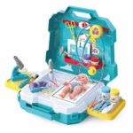 JOYIN 29 Pieces Medical Toy Kids Doctor Pretend Play Kit with Carrying Case for Kids