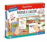 Clementoni 16271 Montessori-Animals and Their Puppies-Educational Game-Made in Italy