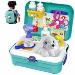 HERSITY Vet Toy Pet Care Kit Role Play Set Grooming Feeding Dog Animal Games Backpack Educational Toy for Kids 3 4 5 Years Old: Amazon.co.uk: Toys & Games