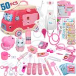Anpro Car Model Doctor Toy Set Child Doctor Role Playing Set 50Pcs Non-toxic and Tasteless Medical Toy Car Model Storage Box(Pink): Amazon.co.uk: Toys & Games