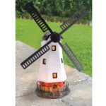 Solar Powered LED Windmill Garden Light Ornament Decoration Outdoor Feature Lamp: Amazon.co.uk: Kitchen & Home