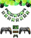 PIXHOTUL Video Game Party Supplies HAPPY BIRTHDAY Gaming Banner