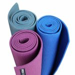 PROIRON Yoga Mat Exercise Mat with Free Travel Carry Bag for Home Gym Fitness 3.5mm or 6mm thick in Blue