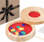 Jaques of London Tiddlywinks - Tiddledy Travel Pieces with Wooden Storage Case