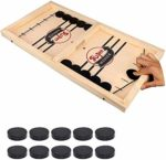 Fast Sling Puck Game – Hockey Wooden Games for Kids and Adults