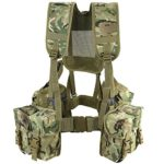 Kombat UK Lightweight Unisex Outdoor Cadet Plce Webbing Set available in British Terrain Pattern - One Size