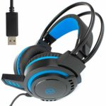 I-CHOOSE LIMITED USB Computer Laptop Gaming Headset with In-Cord Microphone | Skype or Zoom PC Live Chat | Over-Ear | Dynamic Bass | Overhead Stereo Headphones and Mic