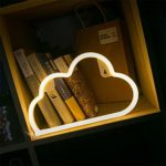 LED Cloud Sign Shaped Decor Light Warm White Neon Light Battery/USB Operated Home Wall Decoration for Christmas Birthday Party Children's Bedroom Living Room Office Wedding Event Banquet Party Decor