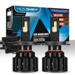 NOVSIGHT H4 LED Headlight Bulbs Hi&Lo 100W (50W/Bulb) 20000LM (10000LM/Bulb) 6000K Beam Lampe All-in-One Conversion Kit Lampe Lights of Halogen and Xenon Kit