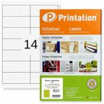 Labels 99.1 x 38.1 mm Self-Adhesive White - Stampit Suitable - 1400 Stk 100 A4 Sheets 2 x 7 L7163 4678