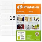 Universal Labels 99.1 x 33.9 mm 1600 Address Labels Blank White Round Corners on DIN A4 Sheet 99.1 x 33.9 Labels Self-Adhesive Printable