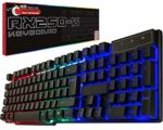 Gaming keyboard RGB USB wired Rainbow Keyboard designed for PC gamers