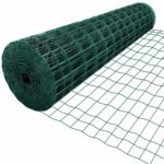 Amagabeli 1.22M X 25M Square Wire Mesh Fence RAL6005 Green Mesh Size 50 x 100mm PVC Coated Garden Wire Netting Poultry Netting Chicken Wire Hardware Cloth