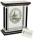 David Peterson Wood and Glass Skeleton Clock with Floating Movement