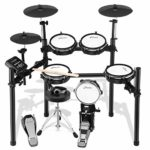 Donner DED-200 Electric Drum Nitro Mesh Kit 8 Piece Electronic Drum Set with Stool