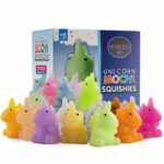 Karids 20 Pack Multicolor Squishy Toys Mochi Unicorn Squishies - Individually Wrapped for Party Bag Fillers