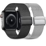 Demark Pack 2 Metal Strap Compatible with Apple Watch Strap 42mm 38mm 44mm 40mm