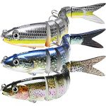 TRUSCEND Fishing Lures for Bass Trout Multi Jointed Swimbaits Slow Sinking Bionic Swimming Lures Freshwater&Saltwater Pike Fishing Lures Kit Fishing Gifts for Men Sea fishing lures fishing bait