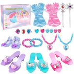 Princess Dress Up Shoes - Princess Toys with Play Shoes & Pretend Jewelry Accessories for Little Girls Aged 3