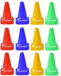 Kosma Set of 12 Training Traffic Agility Marker Cones | Multipurpose Space Marker Cone for Soccer Football Basket Ball Training - Size: 9 Inch (Color- 3Pc each Red