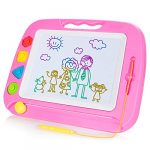 SGILE Large Magnetic Drawing Board - 4 Colors 42×33cm Doodle Pad with 4 Stamps for Toddlers