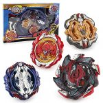 3T6B Bay Battling Tops with Stadium Burst Top Metal Fusion Battle Attack Pack for Launchers and Arena for Kids Children Toy Gift (4 PCS)