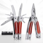 12 in 1 Multitool Pliers with Screwdriver Set - Protable Foldind Pocket Multi Tools Kit for Camping Hiking Fishing and Survival