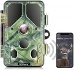 Campark WiFi Bluetooth Wildlife Camera 20MP 1296P with 940nm IR LEDs Night Vision Motion Activated Trail Camera IP66 Waterproof for Wildlife Monitoring