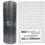 Roshield Rodent Proofing Wire Metal Mesh 6m x 300mm - Stop & Prevent Rat & Mouse Access